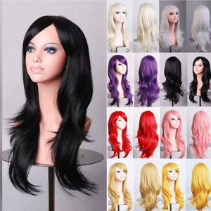 Image is loading Cosplay-Wig-Women-Ladies-Halloween-Costume-Blonde-Black- c822ba45cb
