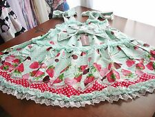 Bodyline Sweet Lolita Green Chocoberry Empire Waist JSK Dress Size M NWT