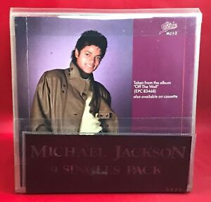 MICHAEL-JACKSON-7-034-RED-vinyl-record-9-Singles-Pack-UK-MJ1-9-EPIC-WALLET-EXCELL