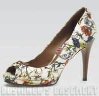 GUCCI infinity Flora 39.5 BAMBOO BOW peep toe HOLIDAY Platform shoes NIB Authent