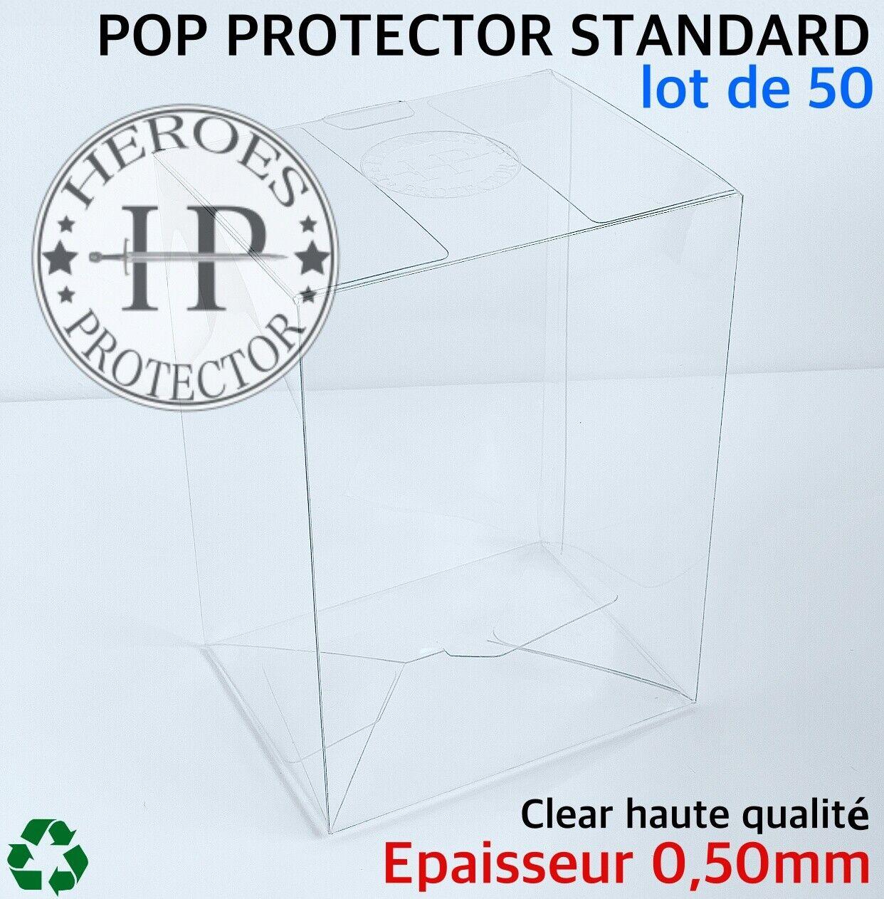 LOT DE 50 HEROES ProssoECTOR 0,50mm divertiessitoko Pop Vinyl 4  Prossoection Vinyl scatola Case