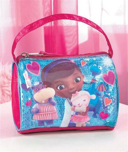 LITTLE GIRLS' DISNEY DOC MCSTUFFINS EMBELLISHED BARREL STYLE HANDBAG PURSE