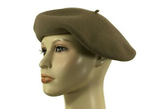 e7804ae5 Authentic Laulhere 100% Wool Beret Hat Paris 10 Taupe 6 7/8 Made In ...