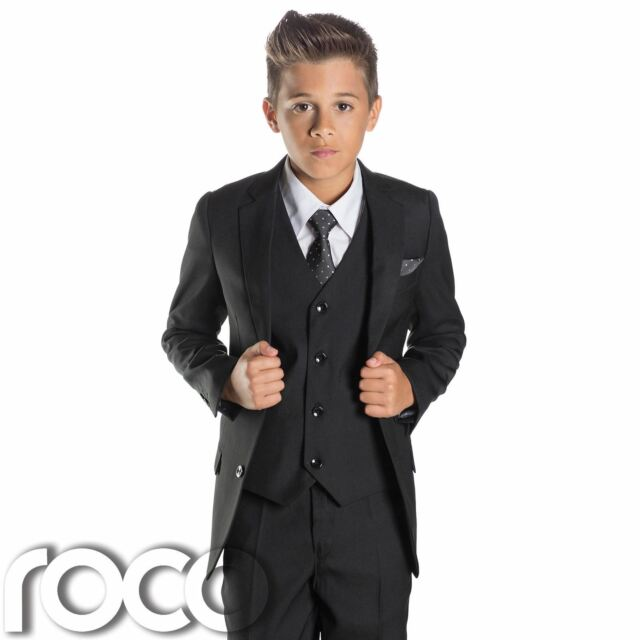 2c2084b42 Paisley of London Boys Black Blazer and Waist Coat With Dust Cover ...