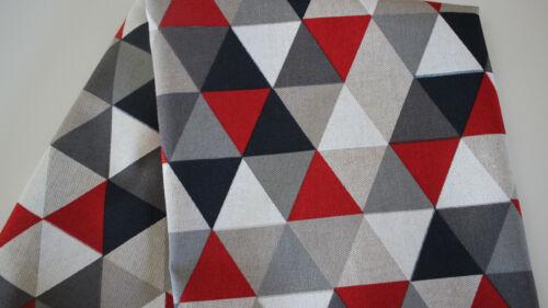 Dekostoff Canvas auf rot 50 x 140 cm
