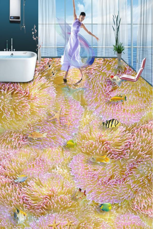 3D sea fish water 97 Floor WallPaper Murals Wall Print Decal 5D AJ WALLPAPER