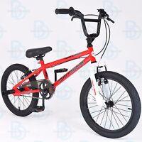 Muddyfox Griffin 18 Bmx Bike - Red And White - Boys - Model - Stunt Pegs