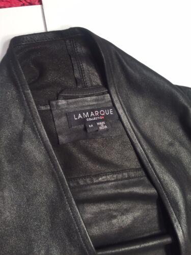 Leather La Coat Magnet Lamarque Jacket Marque Medium Collection M Black Euc Sz CwOAq