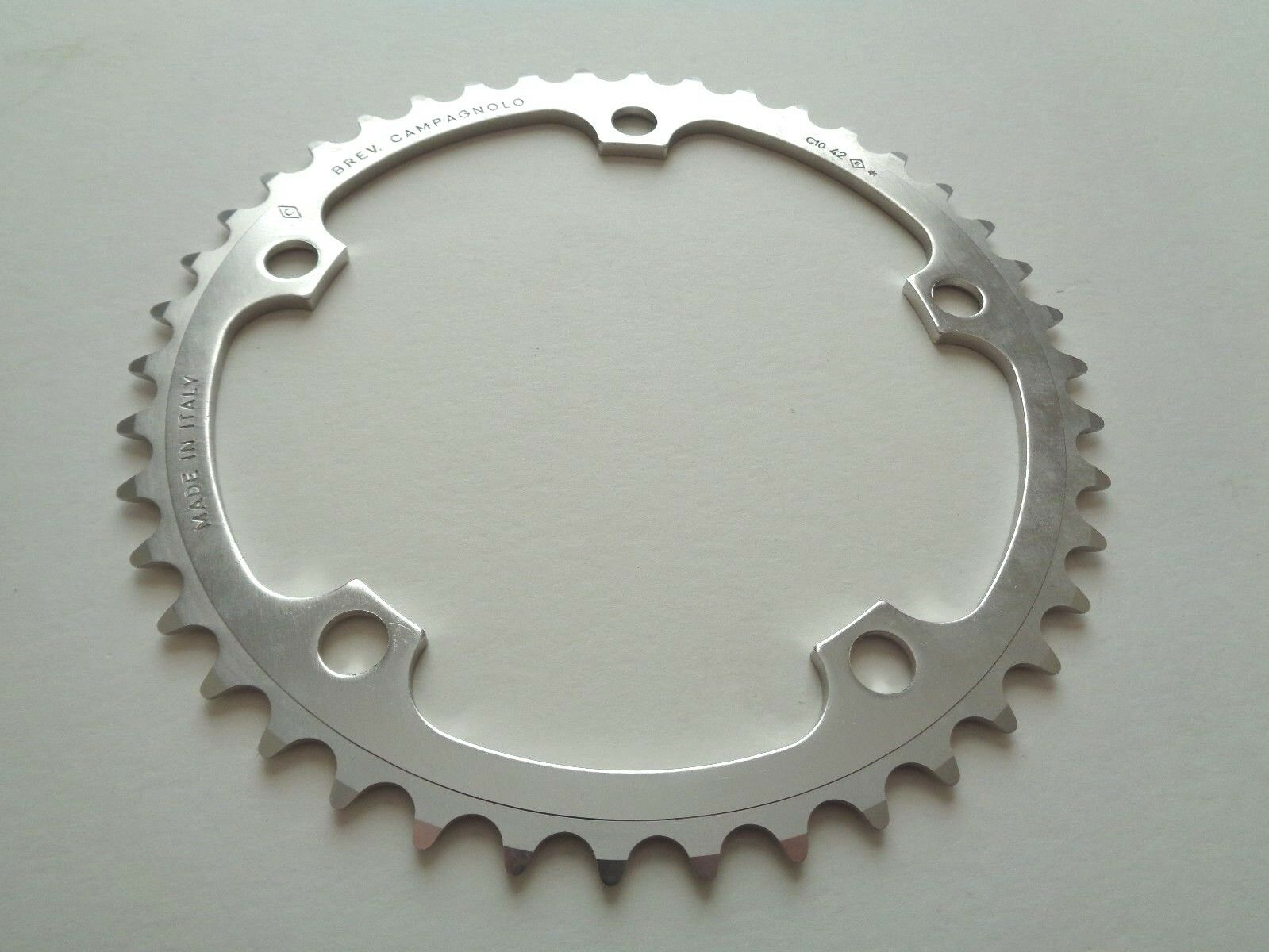 NOS Vintage Campagnolo 10 Speed 42T 3 32 aluminium chainring - 135BCD