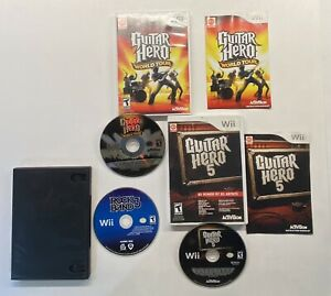 Nintendo-Wii-Guitar-Hero-5-Guitar-Hero-World-Tour-Rock-Band-3-Bundle