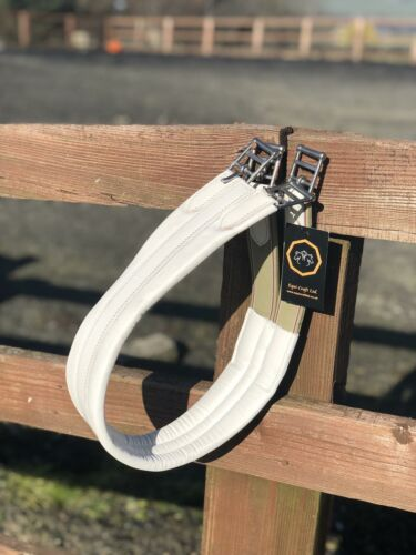 DESIGNED FOR THE RING! White leather girth