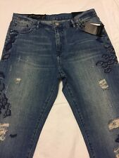 NWT A X ARMANI EXCHANGE Distressed Patchwork Jeans Size 30