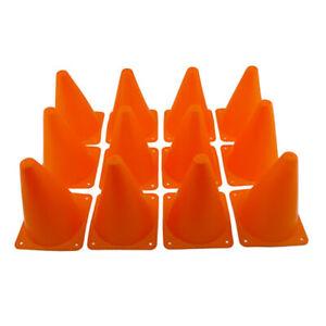 7 In (environ 17.78 Cm) Orange Sports Agilité Formation Champ Marker Cônes De Circulation Parking Road 12pc-afficher Le Titre D'origine Pas De Frais à Tout Prix