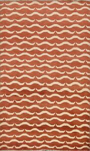 All-Over-Hand-knotted-Gabbeh-Oriental-Area-Rug-Modern-Wool-Kitchen-Carpet-4-039-x6-039