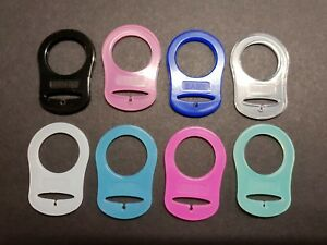 2-X-MAM-Baby-Pacifier-Style-Dummy-Adaptors-Ring-Clip-Soother-KAM-Two-Pack