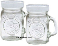 Mason Jar Golden Harvest Salt & Pepper Shakers Set 4oz - Kitchen Gadgets