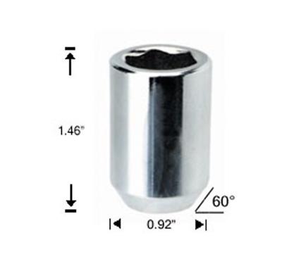White Knight Chrome M14x1.50 Ram 1500 OEM Factory Style 1.78 Long Duplex Bulge Acorn Lug Nut