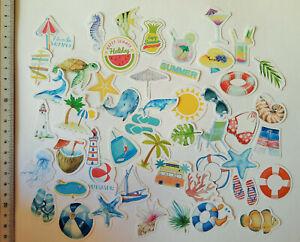50er-Set-Sommer-Urlaub-Stickerbomb-Aufkleber-Sticker-Kinder-Sonne-Strand
