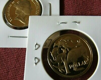 Only 53,000 made 1990  $1 proof coin Brilliant coin in 2 x 2 holder.
