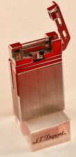 """ST. DUPONT BRUSHED PALLADIUM LIGHTER """"URBAN"""" MODEL WITH BOXES AND PAPERWORK"""