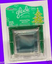 Glade Decor Scents SHIMMERING SPRUCE Glass Holder + Refill BALSAM FIR & JUNIPER