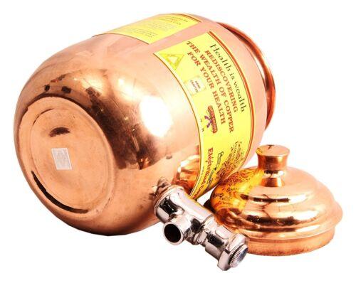 Copper Water Dispenser Container Pot Tank Storage Water,Kitchenware,Yoga 1.5 ltr