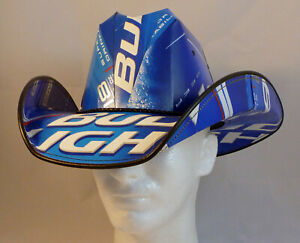 Beer Box Cowboy Hat made from recycled Retro Bud Light beer boxes