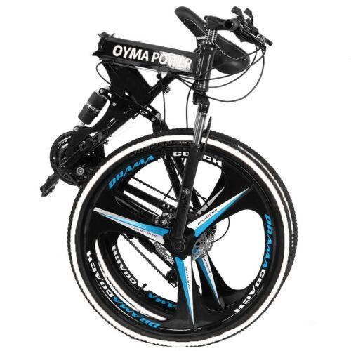 """26/"""" Folding Mountain Bike Shimano MTB Bicycle 21 Speed Full Suspension Xmas Gift"""