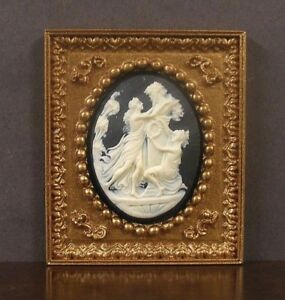 Handcrafted  ~JIM COATES  ~ 1:12 scale ~ Dollhouse Miniature FRAMED  PICTURE