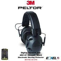 3m Peltor Tactical Sport 100 Electronic Earmuff Foam Black Nrr 22 Tac100-oth