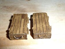 1/32 SCALE  PAINTED AMMO CRATES  FOR MODEL SCENES & DIORAMAS  ANY ERA SEE PICS