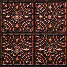 # 205 - Antique Copper 2'x2' PVC Decorative Ceiling Tile Glue Up