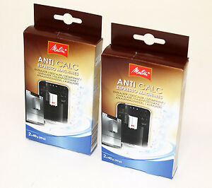 2 packs melitta anti calc espresso machines 2 x 40g sachets mel6545499 ebay. Black Bedroom Furniture Sets. Home Design Ideas