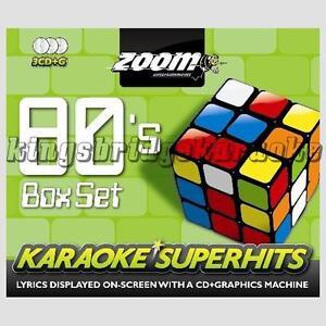 Zoom-Karaoke-80s-Superhits-Volume-1-3-Disc-Set-CDG-CD-G