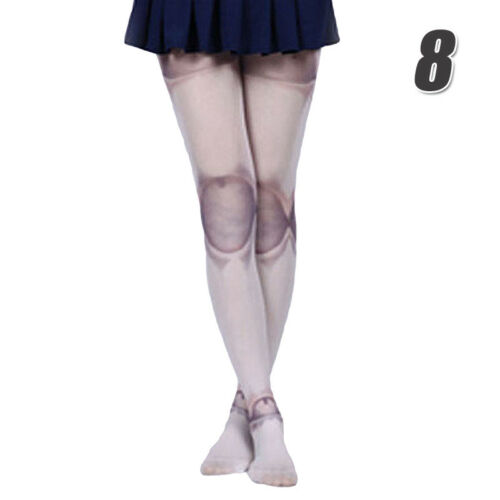 Girls Lolita Pantyhose 80D Fairy Tale Oil Sweet Painting Printed Stocking Tights