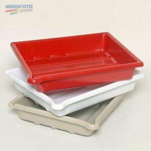 AP Laborschalen-Set 24x30cm / 3er-Set in white, red & cream