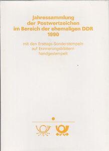 DDR ETB 1990 Nr. 6 Jahres Sammlung mit ESST auf Erinnerungsblättern handgest.
