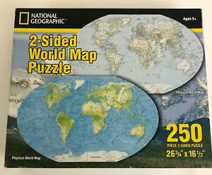 NATIONAL-GEOGRAPHIC-2-Sided-World-Map-250-Piece-Puzzle-Ages-5