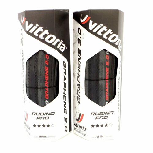 Vittoria Rubino Pro G+2.0 700x28C Road Clincher Tire-Full Black 1 Tire or 2 Tire