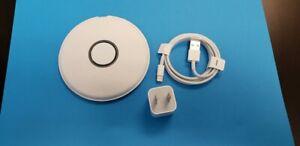 OEM Apple MU9F2AM/A iWatch docking station Open Box white circle/Nightstand mode