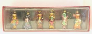 Vintage-Disney-Store-Exclusive-Winnie-the-POOH-FAMILY-Blown-6-Glass-Ornaments
