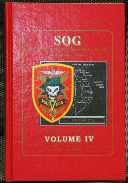 SOG MACV Studies and Observations Group Vol 4 Appendixes Harve Saal Vietnam