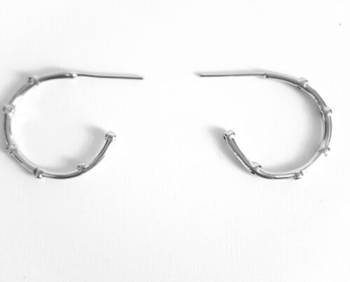925 Silver Plated Mini Orb Hoop Earrings Constellation Stories Bloggers