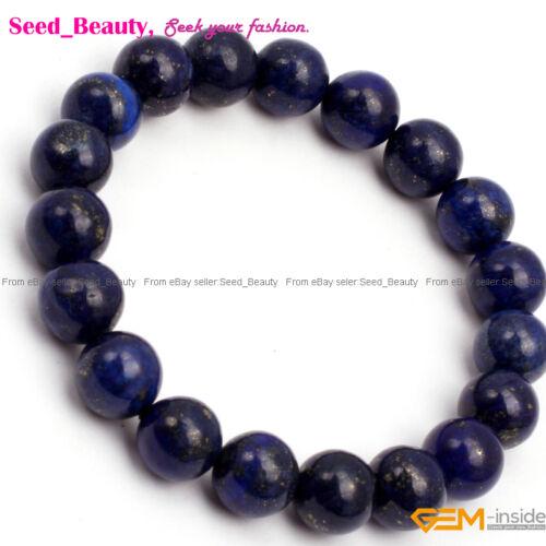 """Teint véritable Lapis lazuli perles Guérison De Perles Bracelet 7.5/"""" extensible//adjustale"""