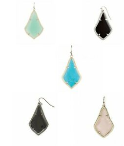 Kendra-Scott-039-Alex-039-Mismatched-SINGLE-Earrings-Black-Turquoise-Rose-Quartz-Green