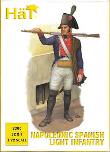 HaT-HaT-Napoleonic-Wars-1803-1815-Spanish-Light-Infantry-1-72-Scale-25mm