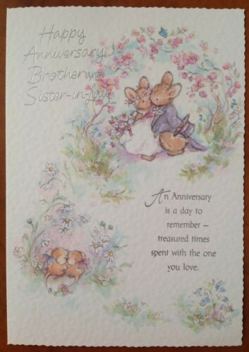 ANNIVERSARY CARD ~ BROTHER /& SISTER/_IN-LAW
