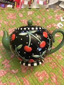 Mary Engelbreit Cherry Tea Pot Piggy Bank