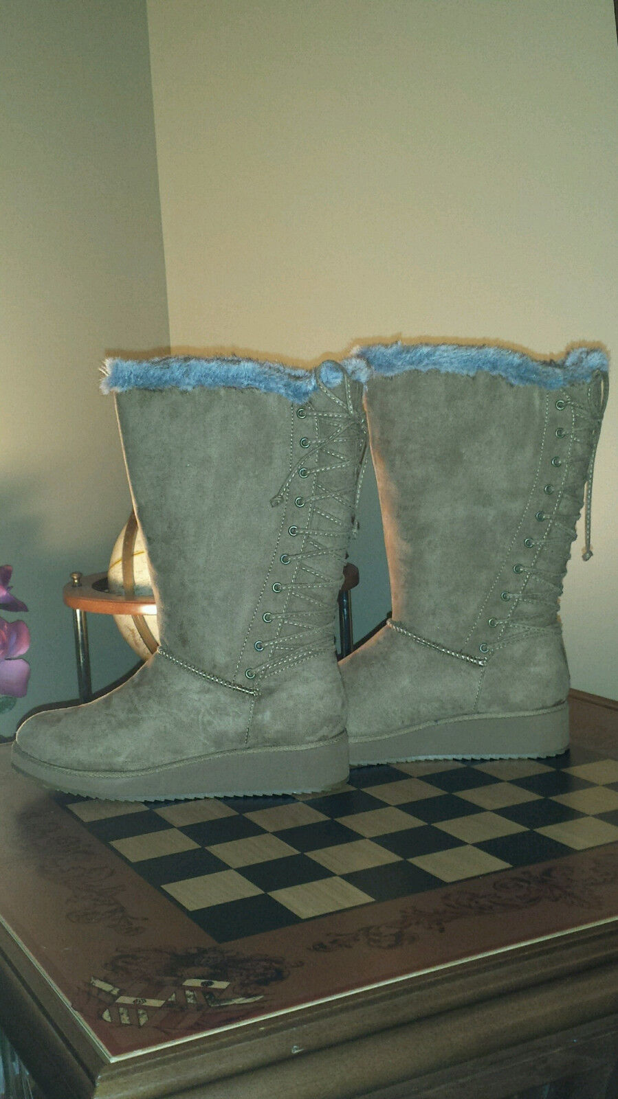 Women's Rampage Ram-Perie boots Camel Micro Suede Brand New in Box