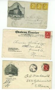 Lot-of-3-Canada-Covers-Featuring-Ottawa-Hotels